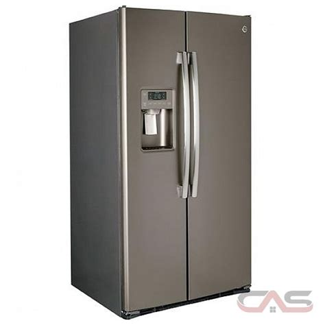 ge gss23hmhes side by side refrigerator 33 quot width thru