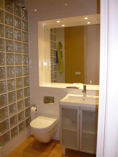 Vintage Bathroom Ideas Foto Ba 241 O Con Tabique De Ladrillo De Vidrio Como Mampara