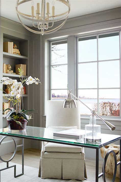 glass top desk transitional denlibraryoffice lillian august