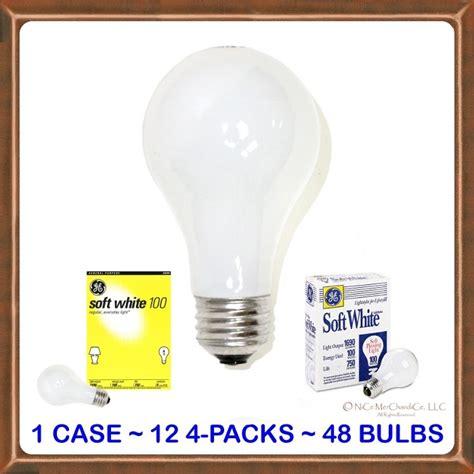 100 watt ge white incandescent light bulbs 48 100 watt ge 174 white incandescent light bulbs ebay