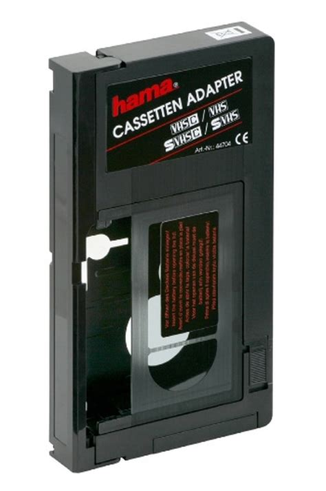 cassetta vhs cassette 233 scope hama adaptateur vhsc vhs adapt vhsc