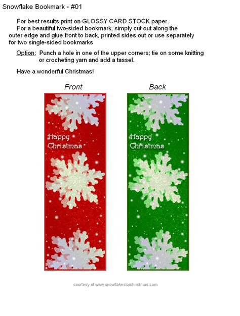 printable snowflake bookmarks free printable christmas snowflake bookmarks