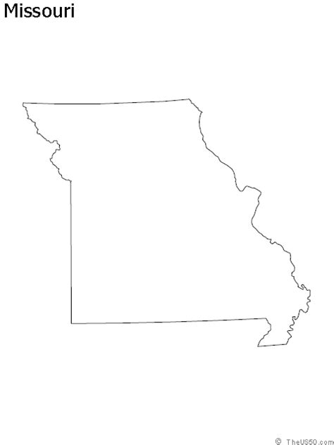 Missouri State Outline by Outline Of Missouri