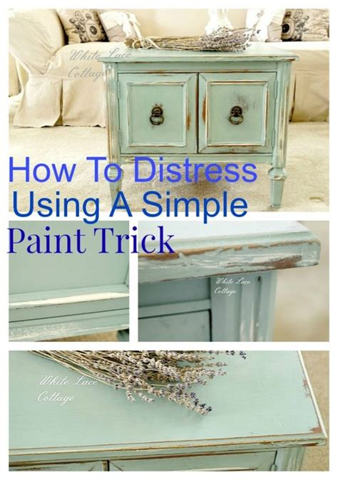 distressing chalk painted furniture how to distress using paint the white side tables and