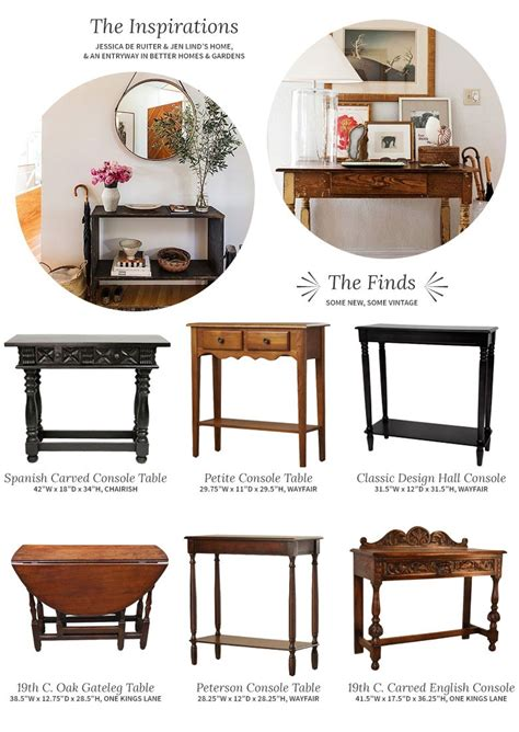 entry table with matching mirror choosing a console table and mirror for an entryway