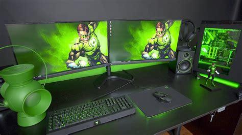 ultimate green lantern gaming setup youtube