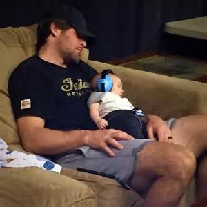 Mike fisher baby sleeping