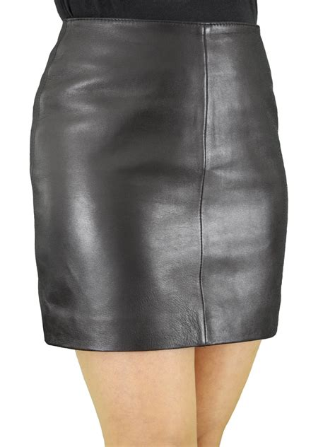 luxury soft leather mini skirt chic classic style 5