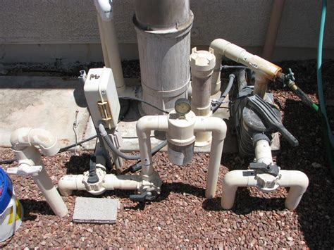 Pool Filter Plumbing by Converting Pressure Side Vac To Suction Vac