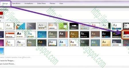 fungsi layout pada ppt design theme pada ms powerpoint 2010 multi contents for all