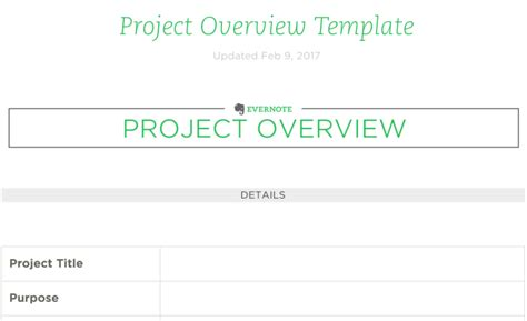 4 Evernote Templates To Supercharge Your Productivity Evernote Project Planning Template