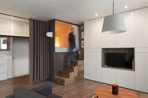 loft beds for studio apartments the designer s small studio apartment features an