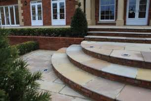 Paver Stones For Patios Bespoke Curved Stone Steps