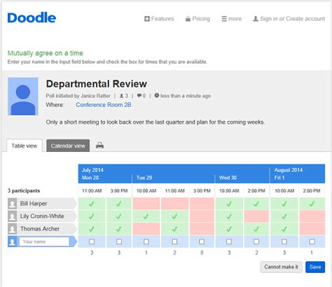 doodle poll review the doodle web scheduler doodle
