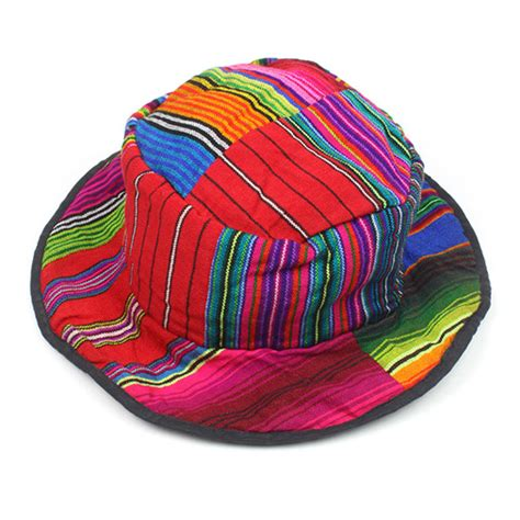 colorful hats colourful patchwork sun hat guatemalan handmade craft from