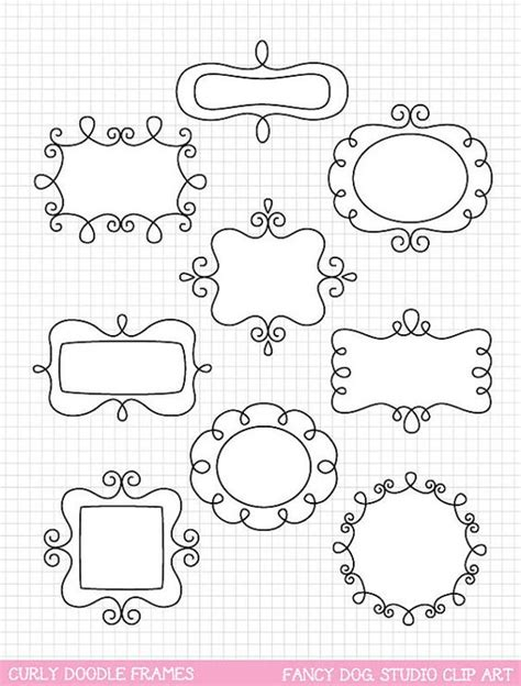doodle digital doodle frame clip frame clipart digital borders