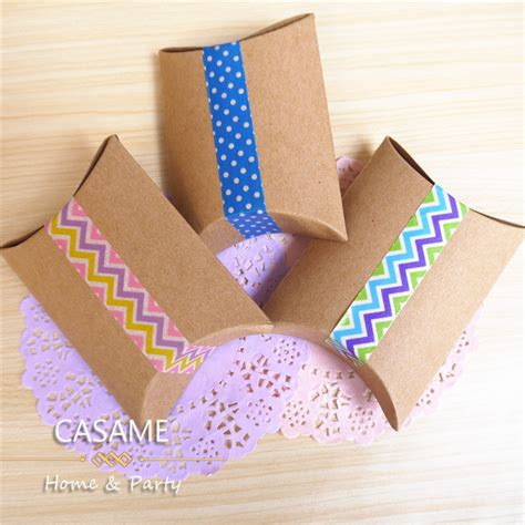Craft Paper Gift Boxes - favor box gift box new craft paper pillow shape wedding