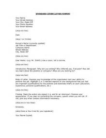 Standard cover letter format in Word and Pdf formats