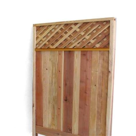 redwood lattice top fence gate common 3 ft x 6 ft