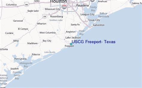 freeport texas map uscg freeport texas tide station location guide