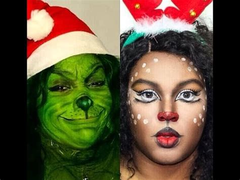 google christmas makeup character makeup thegrinch tutorial collab with 23tucute sue divinitii