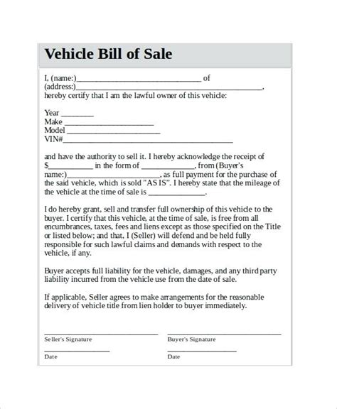 template for selling a car selling a car receipt template yagoa me
