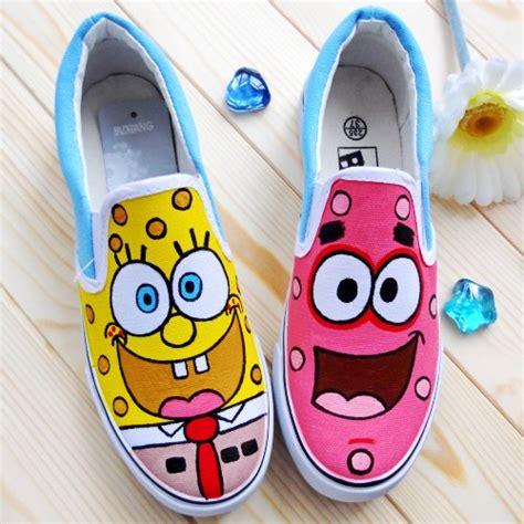 Sepatu Pony 22 30 spongebob canvas shoes painted shoes
