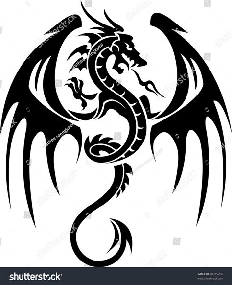 dragon tattoo stock vector 98335706 shutterstock