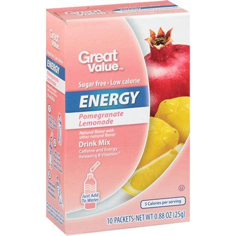 energy drink mixes great value pomegranate lemonade energy drink mix 88 oz