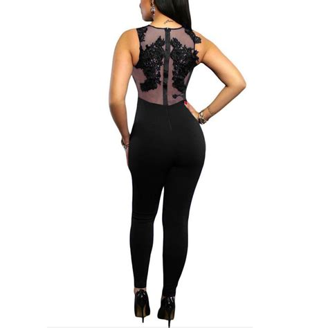 sheer floral lace top jumpsuit addicted2fashion
