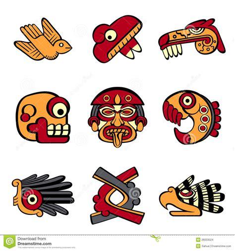 imagenes de simbolos suicidas s 237 mbolos aztecas imagenes de archivo imagen 26033524