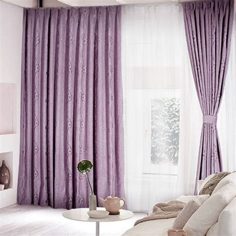 curtains room lilac polyester blackout curtain for living room