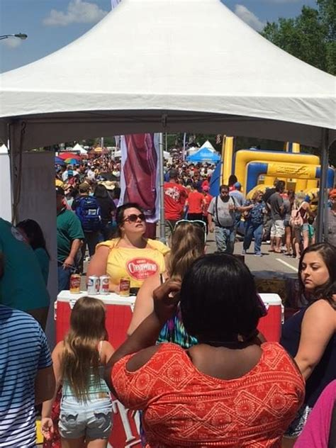 cheerwine s centennial celebration clture photo gallery wall to wall crowd packs sweltering