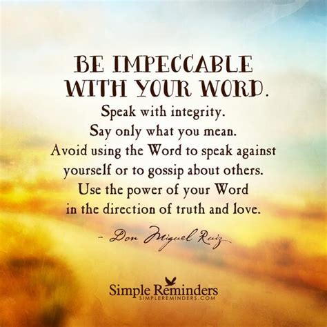 gossip simple meaning simplereminders on twitter quot be impeccable with your
