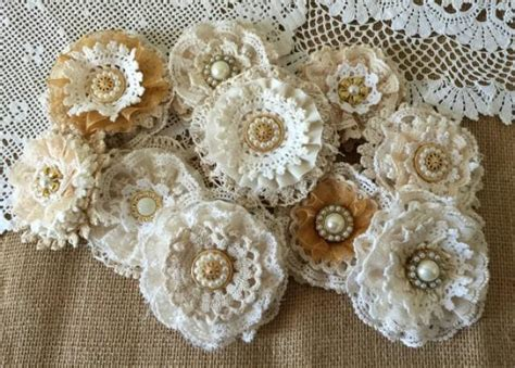 How To Make Handmade Lace - shabby wedding wedding shabby lace handmade flowers