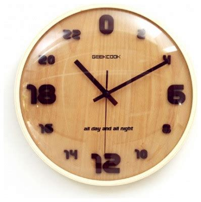 unique wall clocks geekcook 24 hour unique large wooden wall clocks modern