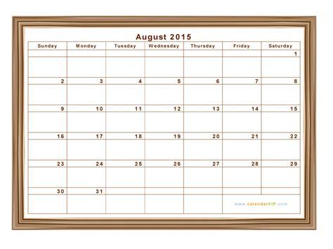 Calendar 2015 August Pdf August 2015 Calendar Blank Printable Calendar Template