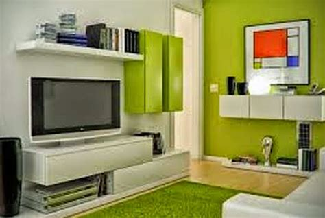 ruang tamu sederhana warna hijau denah rumah pilihan warna interior rumah furniture minimalis