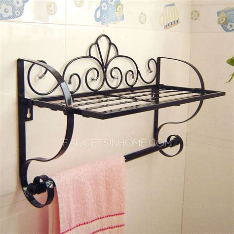 wrought iron bathroom shelves 25 best ideas about bathroom towel bars on