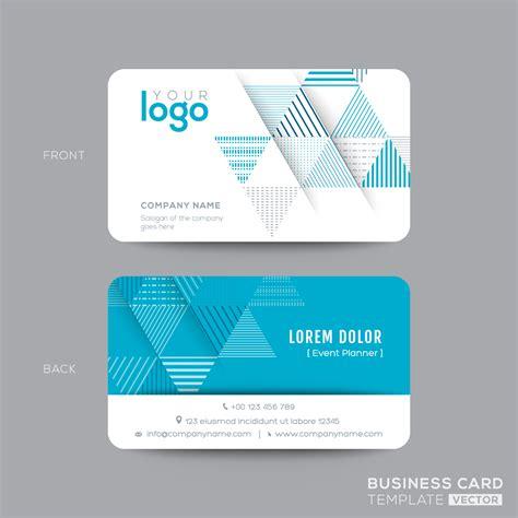 desain kartu nama siap edit contoh kartu nama depan belakang contoh three