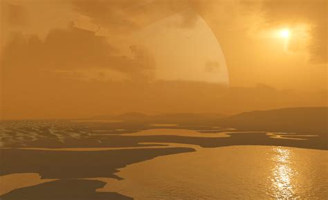 planet saturn surface titan has electrically charged hydrocarbon sands
