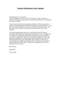 Letter template and samples for retirement and resignation teacher