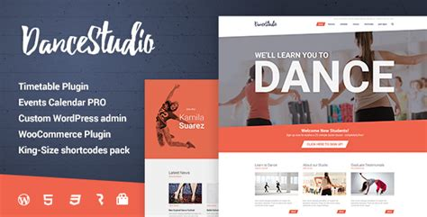 Dance Studio Wordpress Theme For Dancing Schools Clubs By Cmsmasters School Club Website Template