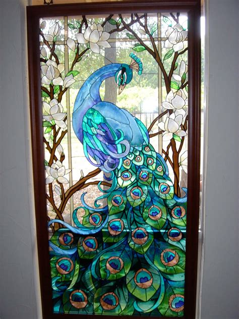 stained glass l designs stained glass window peacock imgkid com the