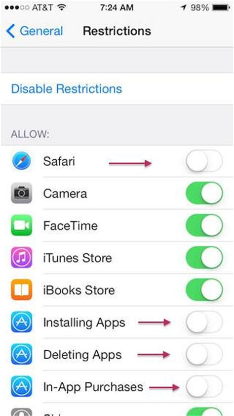 Iphone Parental Controls How To Setup Parental Controls On Iphone Ipod Touch