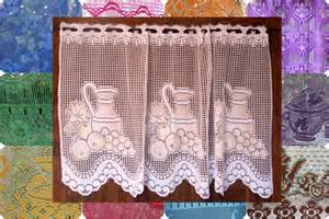 Lace Cafe Curtains Kitchen White Lace Panel Kitchen Curtain Cafe Curtain