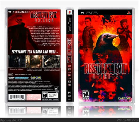 theme psp resident evil 4 resident evil origins psp box art cover by jevangod