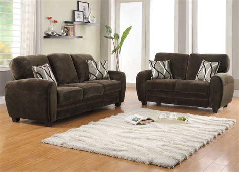 Home Elegance Furniture by Homelegance Rubin Sofa Set Chocolate Textured Microfiber