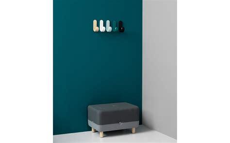 Scandinavian Inspired Furniture curve hooks wooden hooks in misty green lacquere veneer