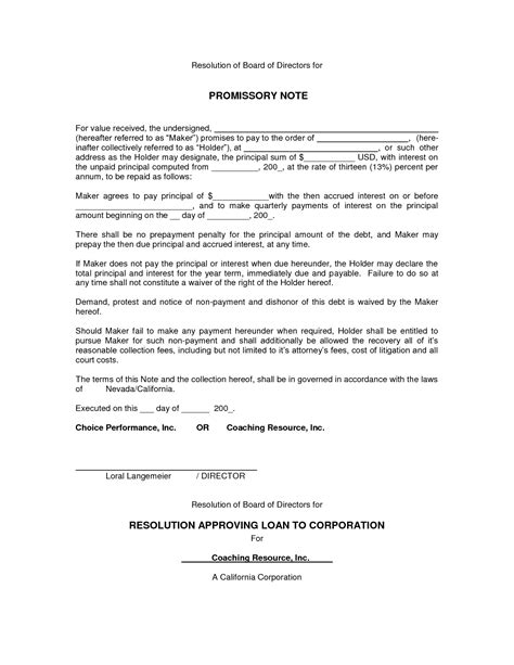 promissory note california template 21 free promissory note template word excel formats